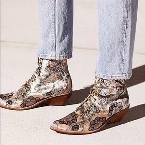 Jeffrey Campbell Elmcroft Velvet Paisley Boots NEW